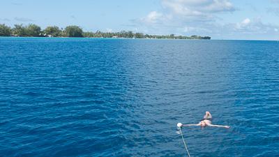 Enjoying the wonderful water!