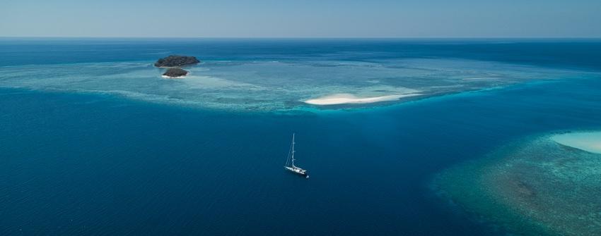 Stunning anchorage at Pulau KenaweL