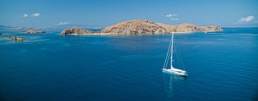A great anchorage at Pulau Sabayor