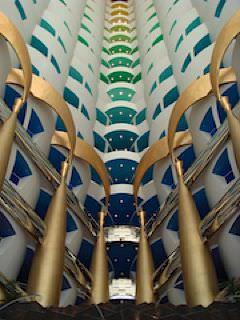 Lobby of the Burj al Arab