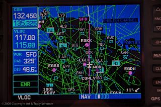 Cruising by Heathrow at FL290
