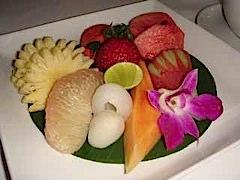 Fantastic fruit plate in Phuket