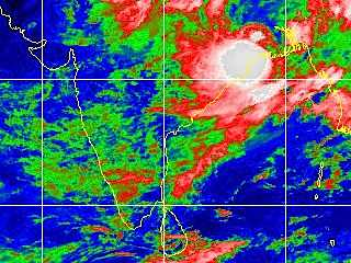 Tropical disturbance right over Calcutta