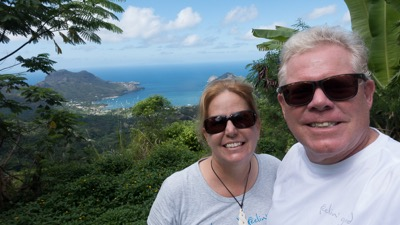 Tracy & Art in Nuku Hiva, Marquesas