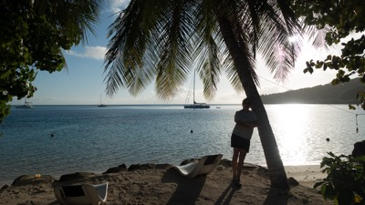 Tracy in Huahine, French Polynesia
