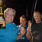 Champagne at the finish line