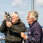 Bruce and Murray working with the sextant