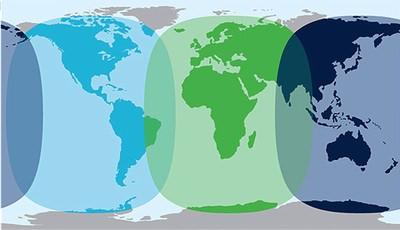 SAILOR 250 satellite coverage map
