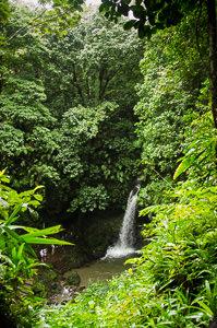 Emerald Falls in Dominica